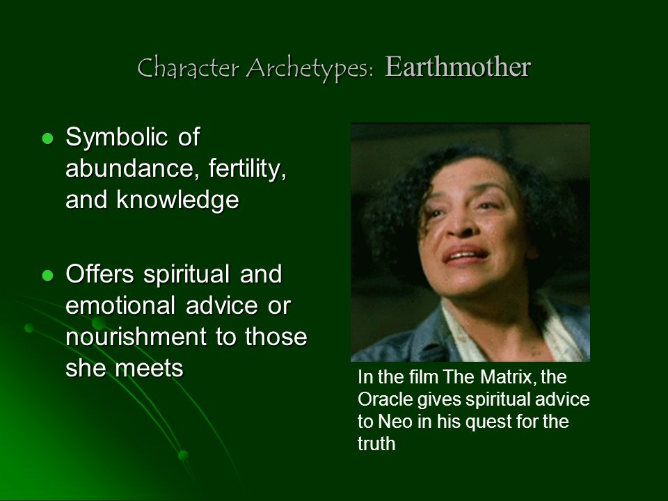 Character Archetypes: Earthmother