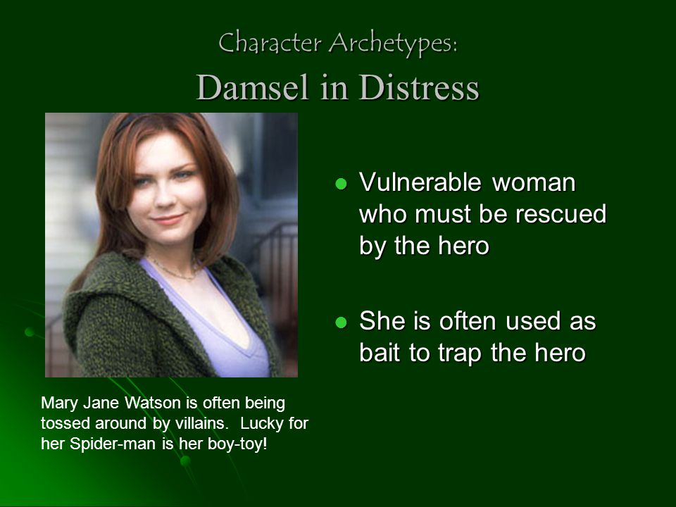 Character Archetypes: Damsel in Distress