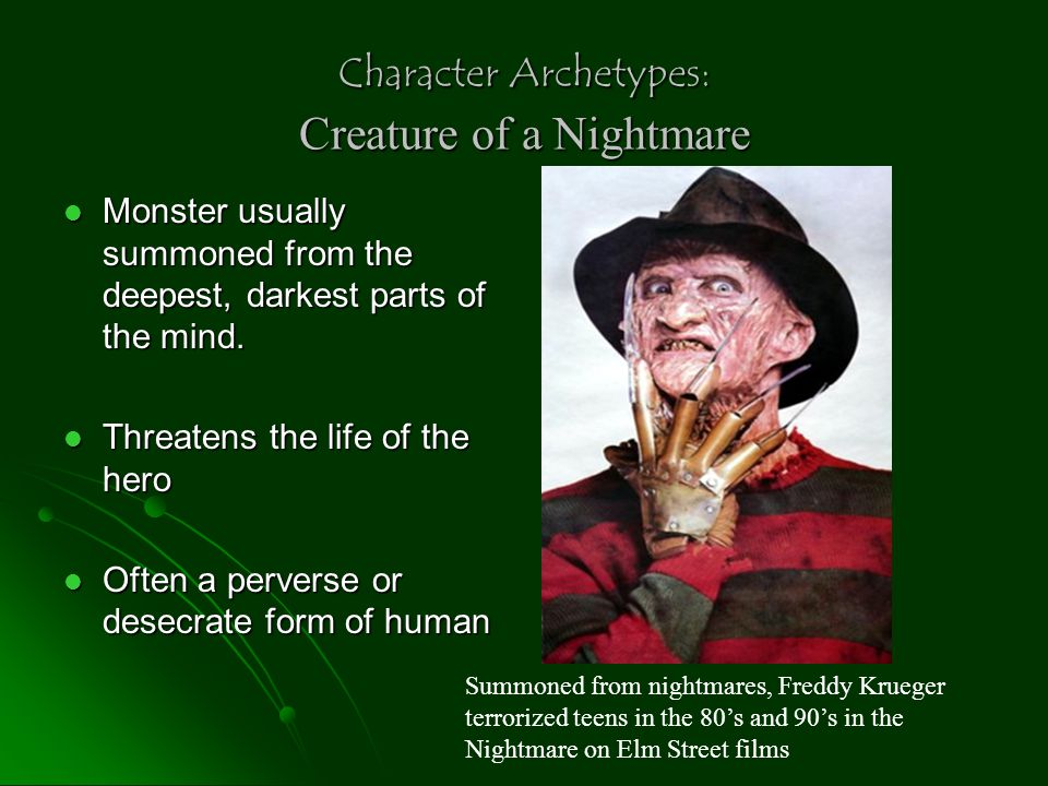 Character Archetypes: Creature of a Nightmare