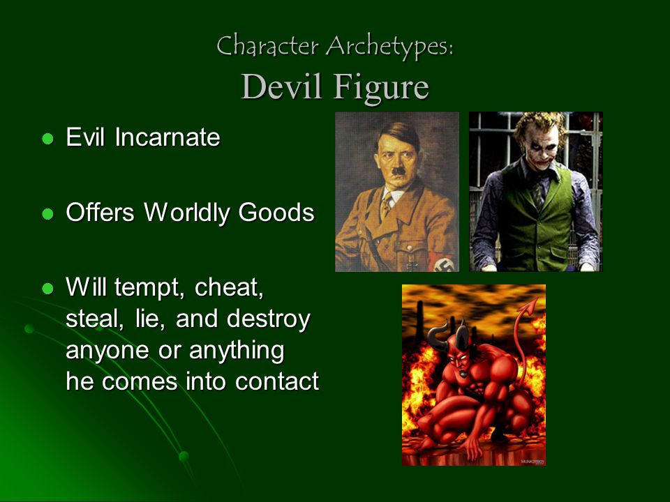 Character Archetypes: Devil Figure