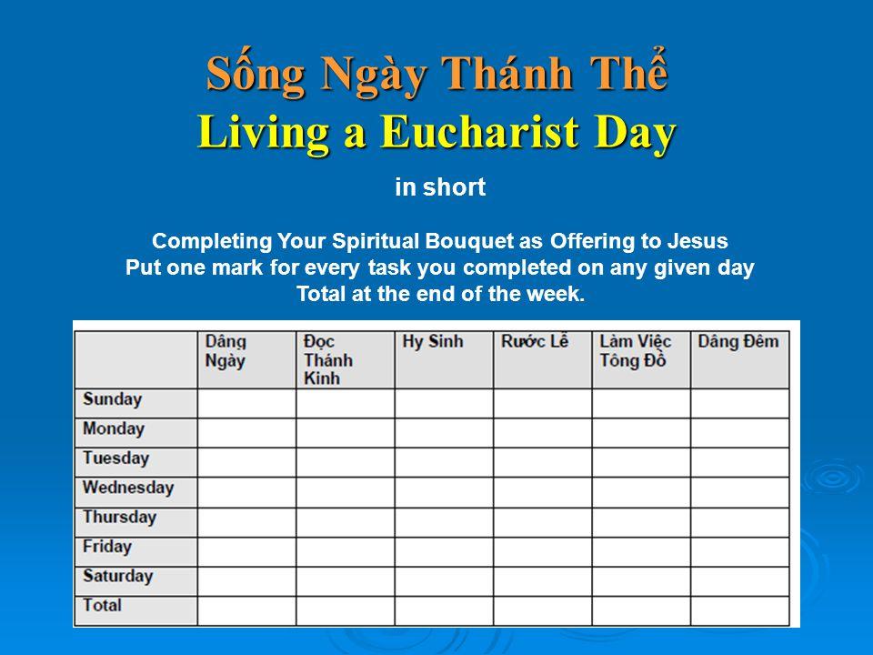 Sống Ngày Thánh Thể Living a Eucharist Day