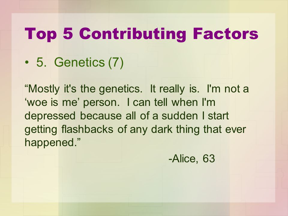 Top 5 Contributing Factors