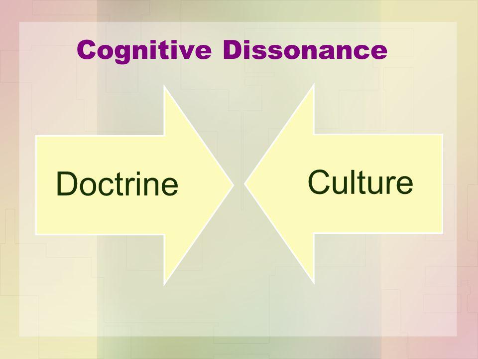 Cognitive Dissonance Doctrine Culture