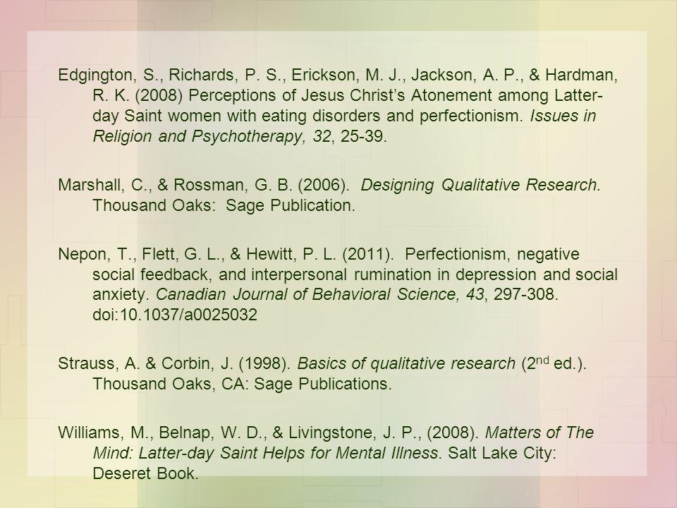 Edgington, S. , Richards, P. S. , Erickson, M. J. , Jackson, A. P