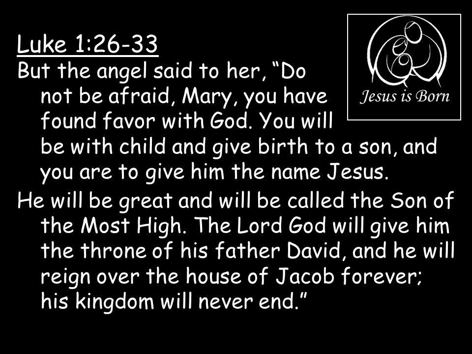 Luke 1:26-33