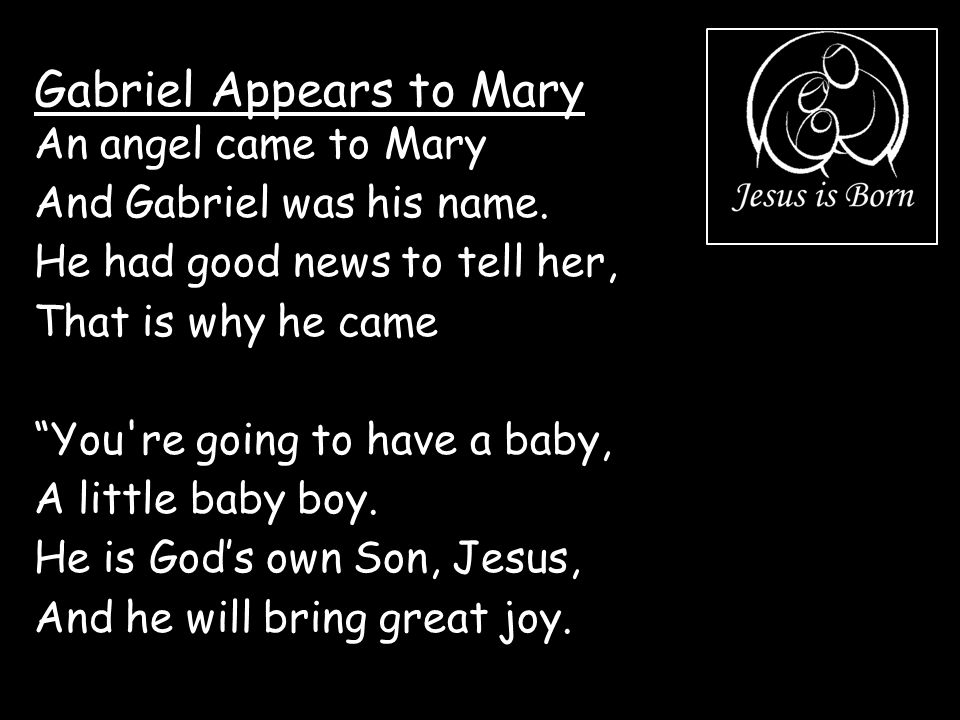 Gabriel Appears to Mary