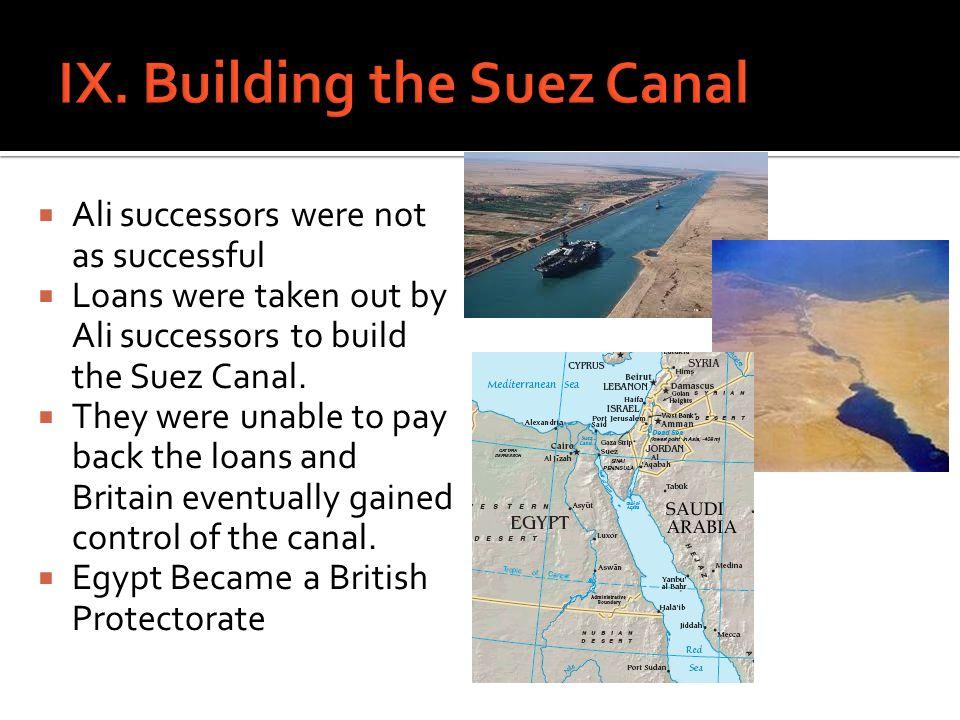 IX. Building the Suez Canal
