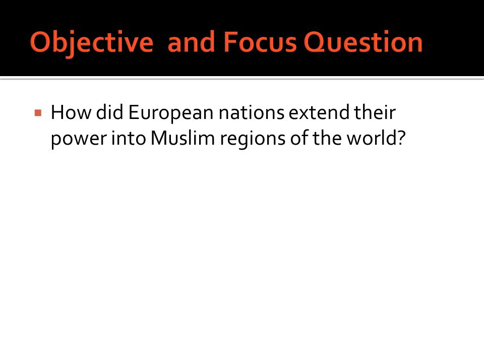 Objective and Focus Question