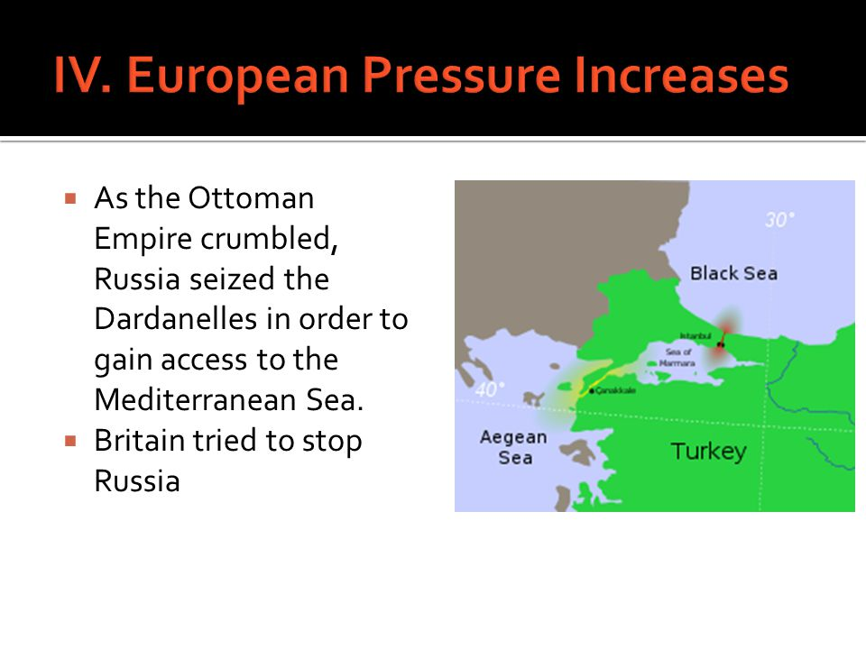 IV. European Pressure Increases