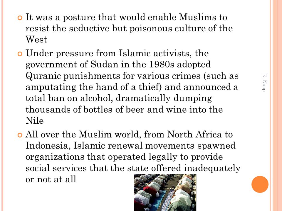 It was a posture that would enable Muslims to resist the seductive but poisonous culture of the West