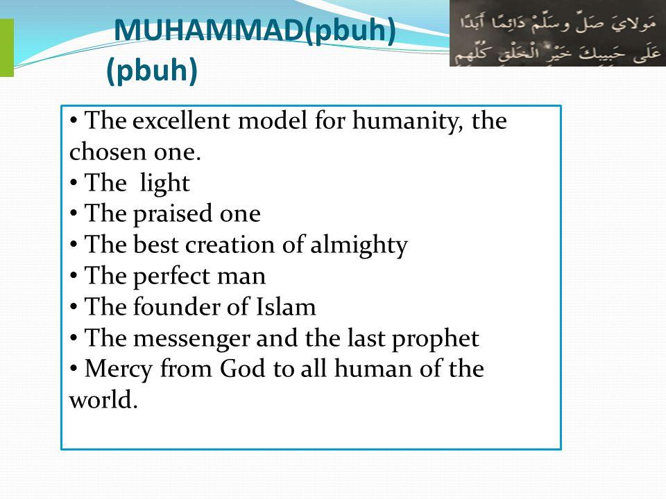 MUHAMMAD(pbuh) (pbuh)