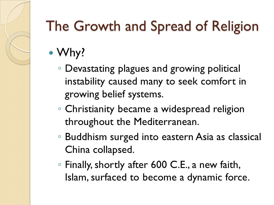 The Growth and Spread of Religion