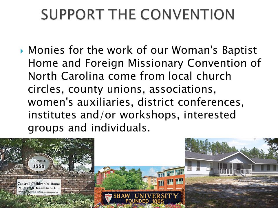 SUPPORT THE CONVENTION
