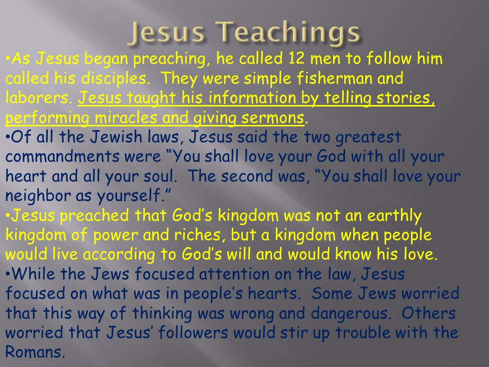 Jesus Teachings
