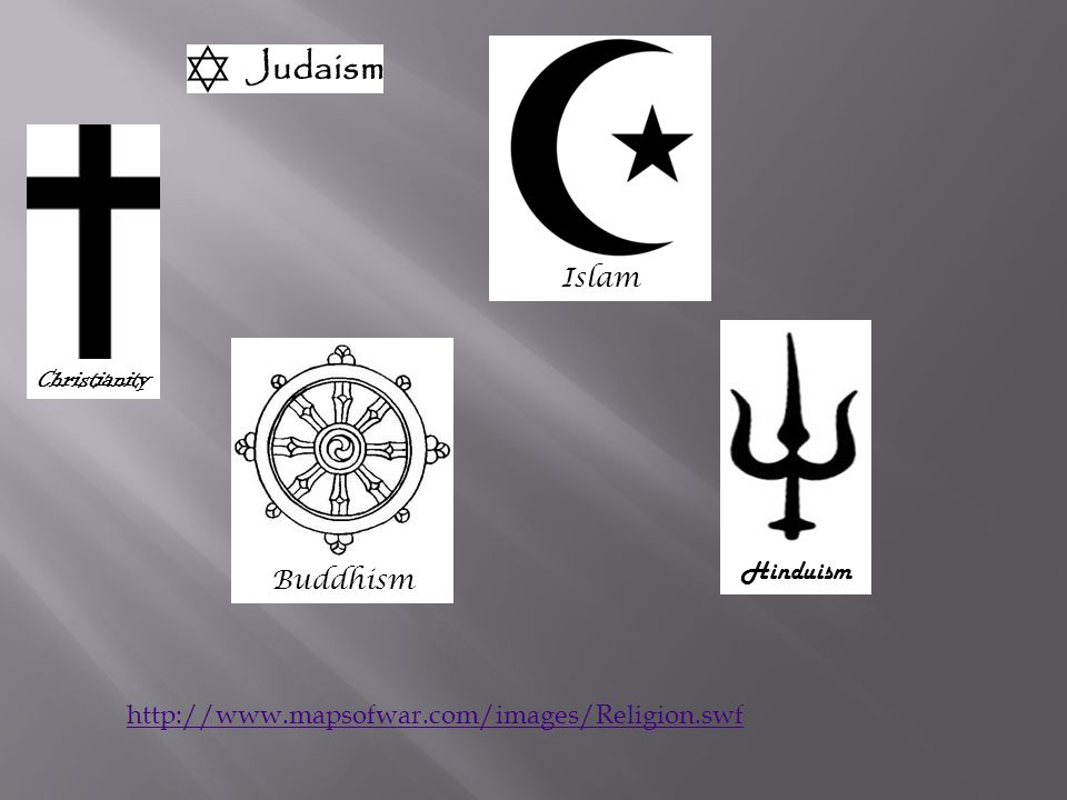Islam Christianity Hinduism Buddhism http://www.mapsofwar.com/images/Religion.swf