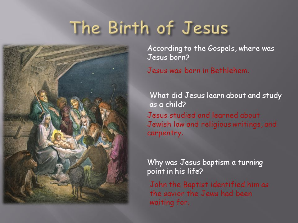 The Birth of Jesus According to the Gospels, where was Jesus born