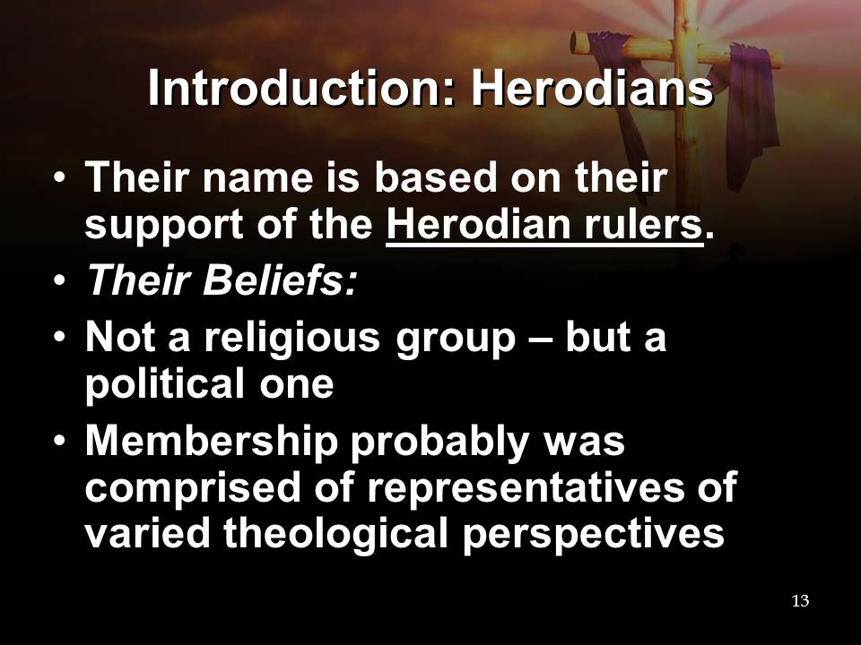 Introduction: Herodians