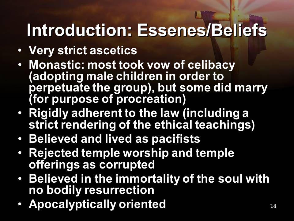 Introduction: Essenes/Beliefs