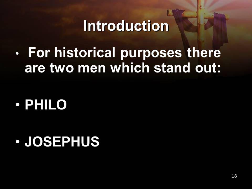 Introduction PHILO JOSEPHUS