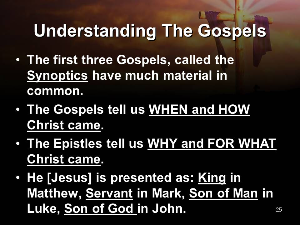 Understanding The Gospels