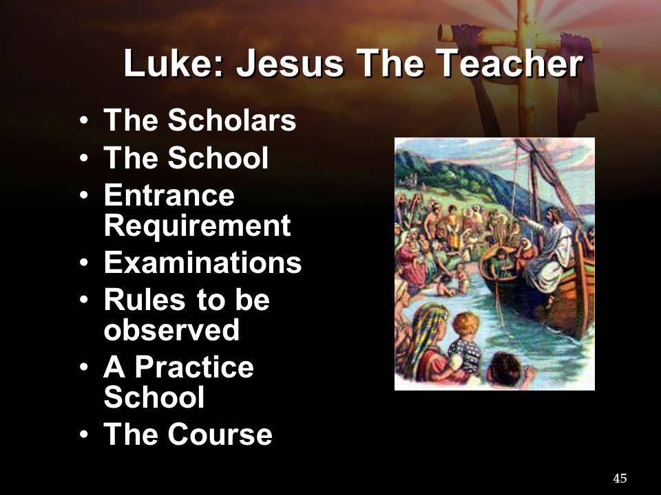 Luke: Jesus The Teacher