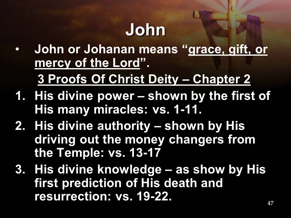 3 Proofs Of Christ Deity – Chapter 2