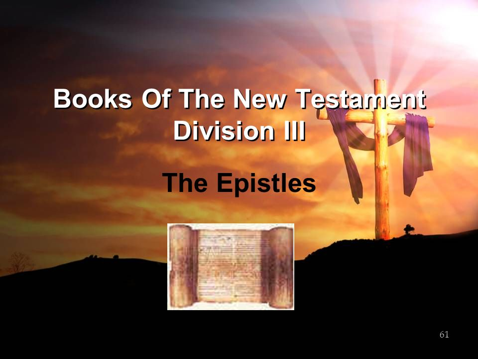 Books Of The New Testament Division III