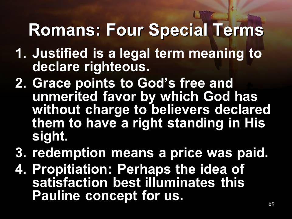 Romans: Four Special Terms