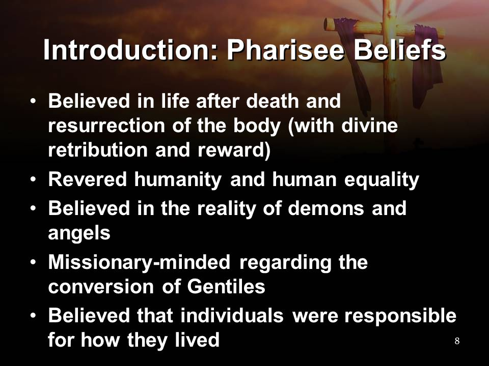 Introduction: Pharisee Beliefs