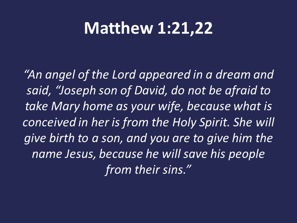Matthew 1:21,22