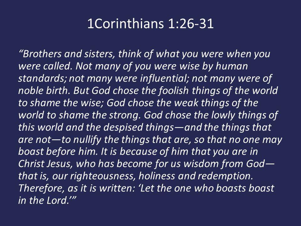 1Corinthians 1:26-31