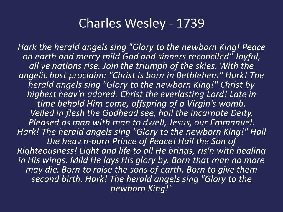 Charles Wesley - 1739