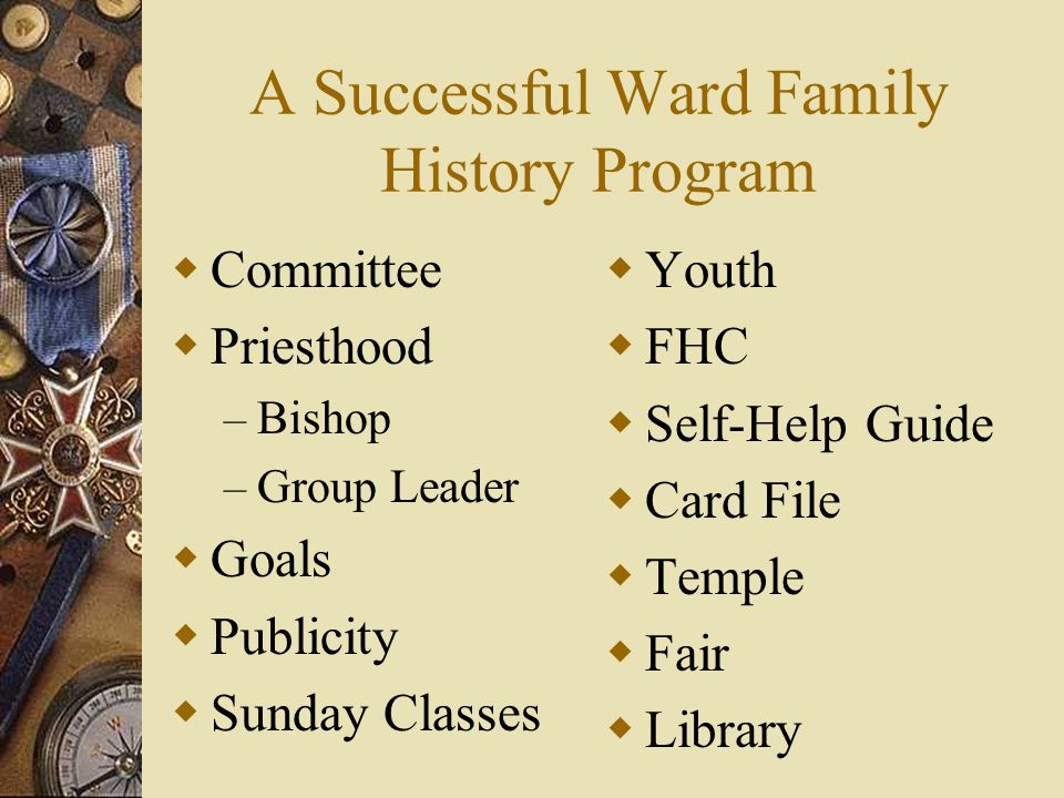 A Successful Ward Family History Program