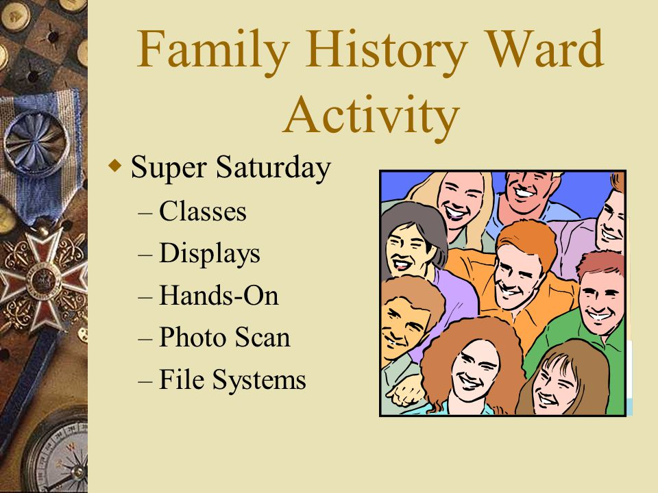 Family History Ward Activity