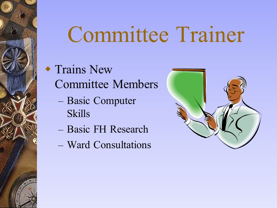 Committee Trainer Trains New Committee Members Basic Computer Skills