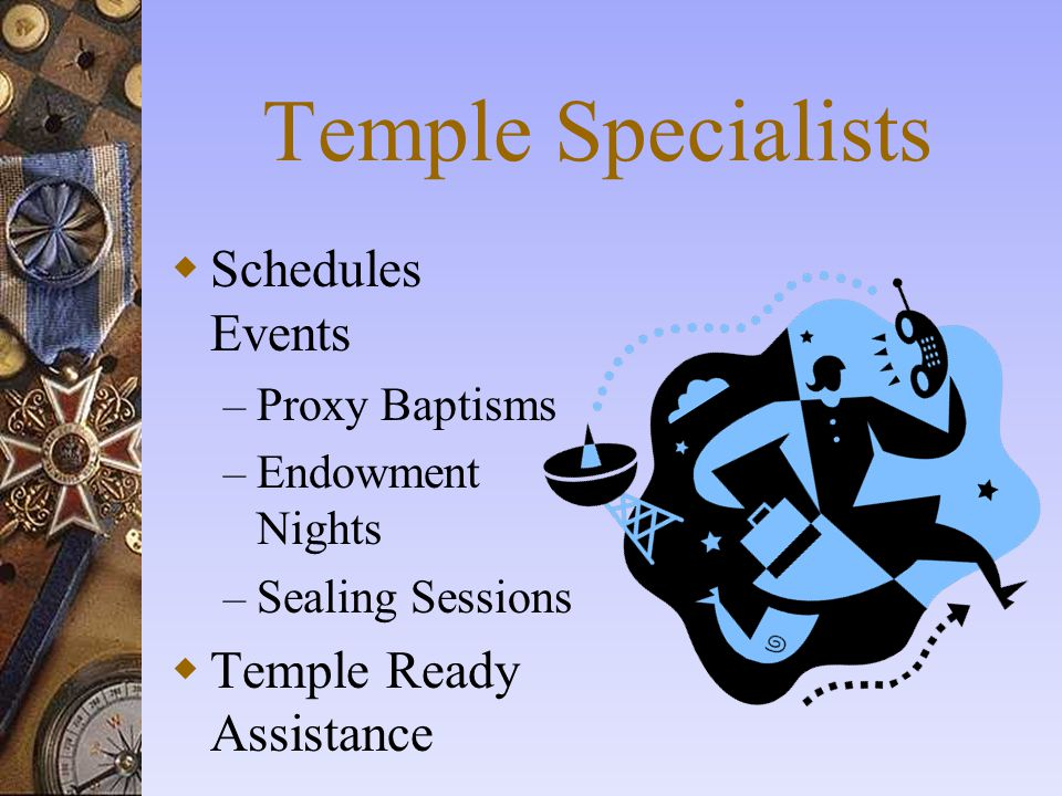 Temple Specialists Schedules Events Temple Ready Assistance