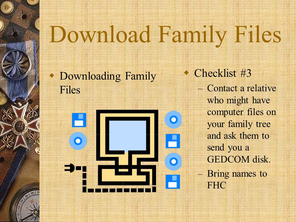 Download Family Files Checklist #3 Downloading Family Files