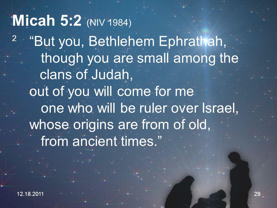 Micah 5:2 (NIV 1984)