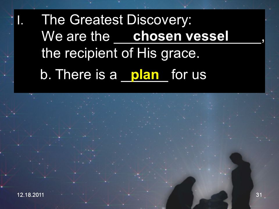 b. There is a ______ for us plan