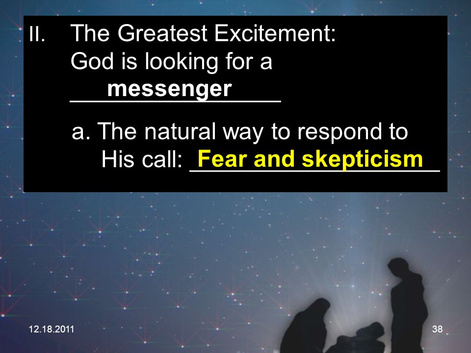 a. The natural way to respond to His call: ___________________