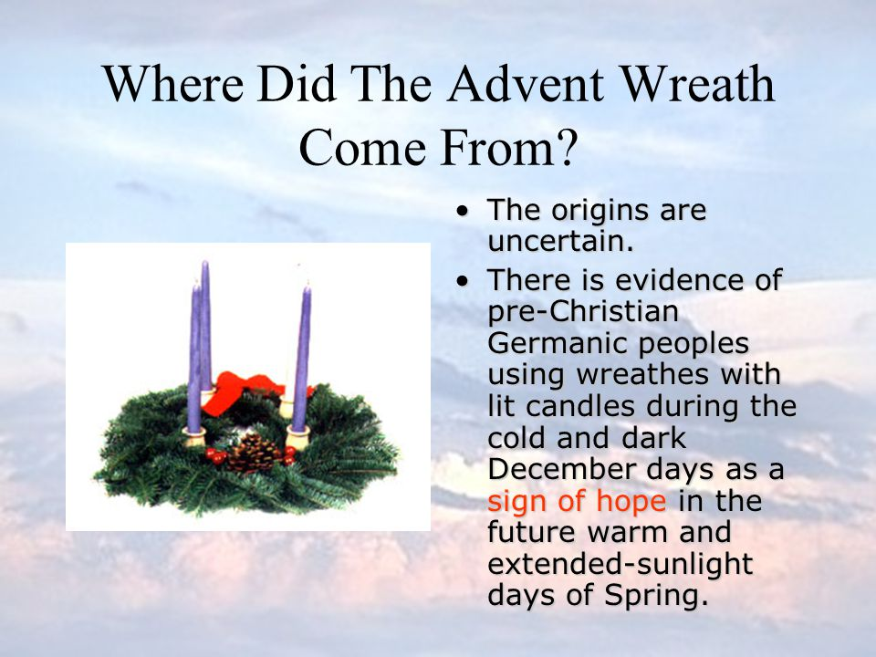 Where Did The Advent Wreath Come From