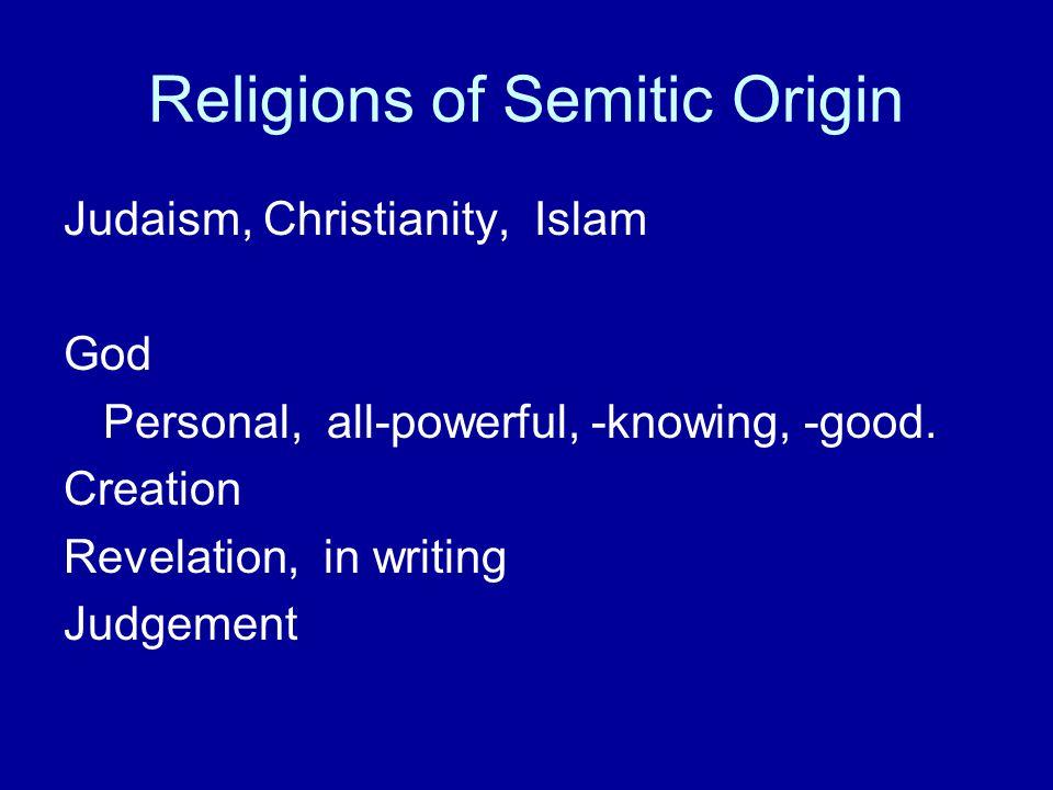 Religions of Semitic Origin