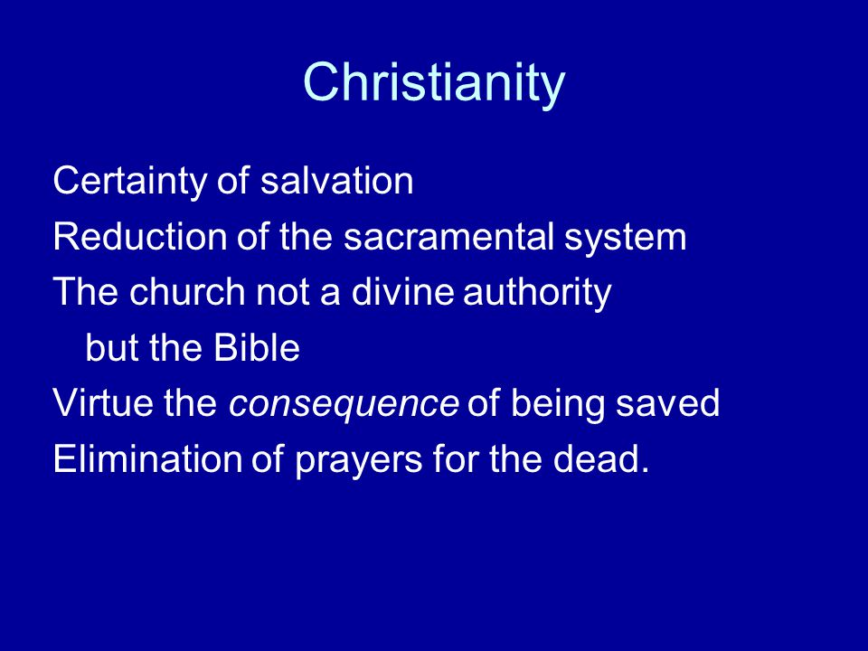 Christianity Certainty of salvation