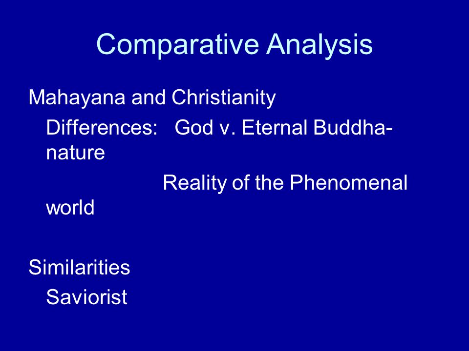 Comparative Analysis Mahayana and Christianity