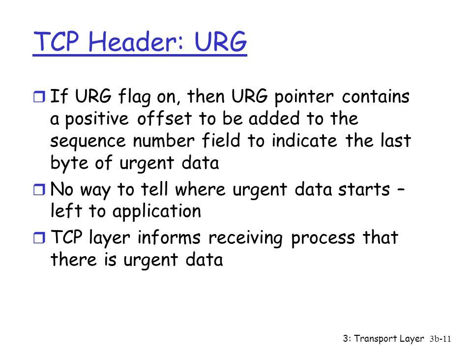 TCP Header: URG