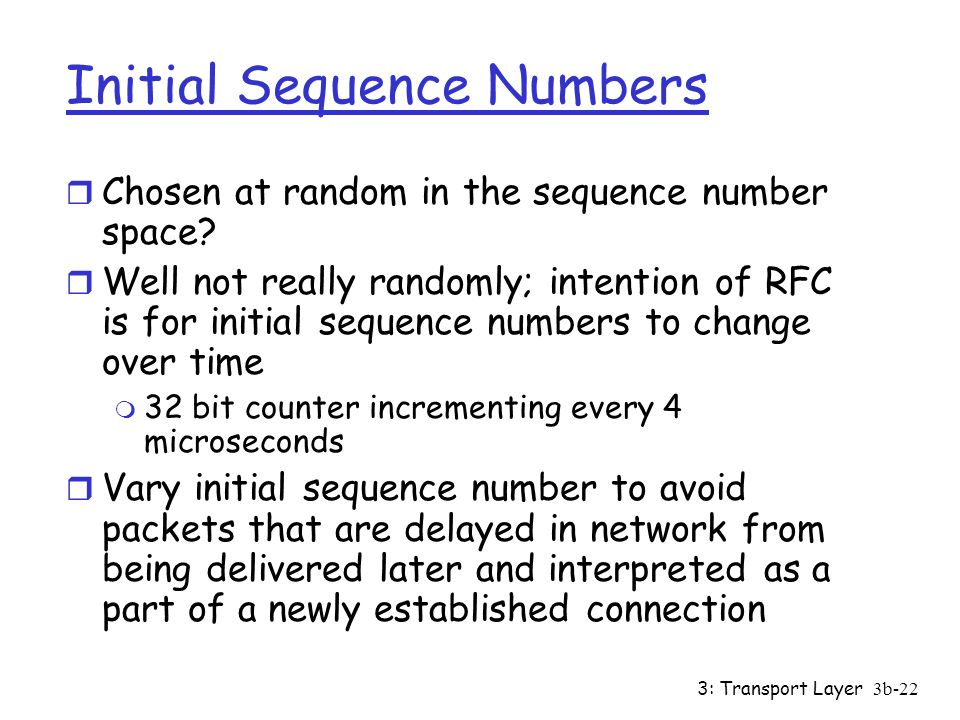 Initial Sequence Numbers