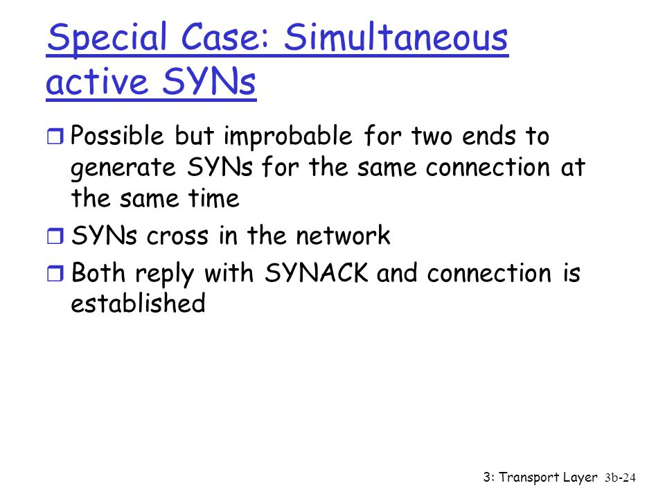 Special Case: Simultaneous active SYNs