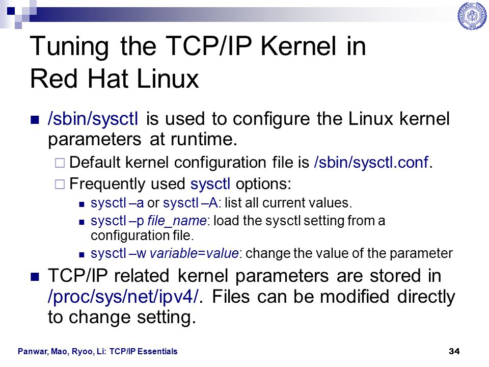 Tuning the TCP/IP Kernel in Red Hat Linux