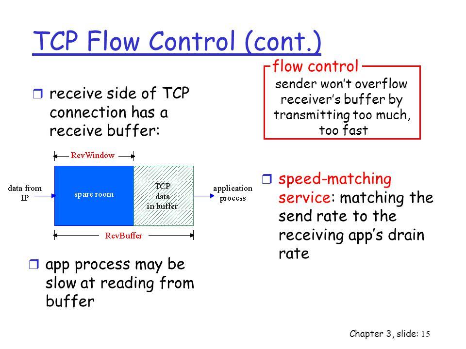 TCP Flow Control (cont.)