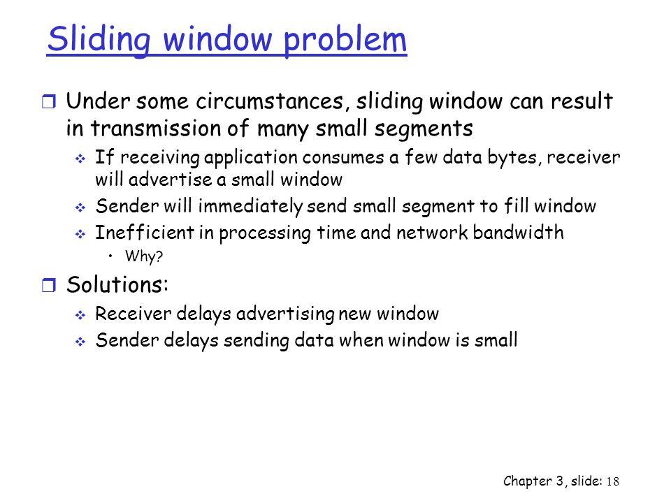 Sliding window problem